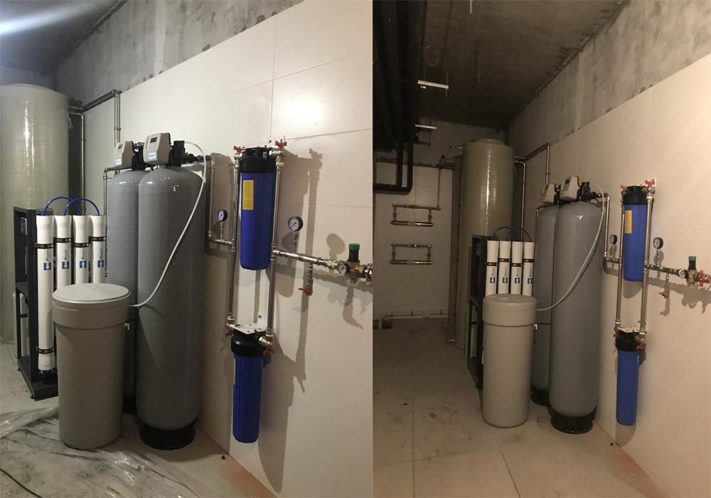 Установка очистки воды на 945 квартир высотного здания , г. Киев